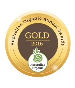 Cocolife Australian Organic Awards Medal