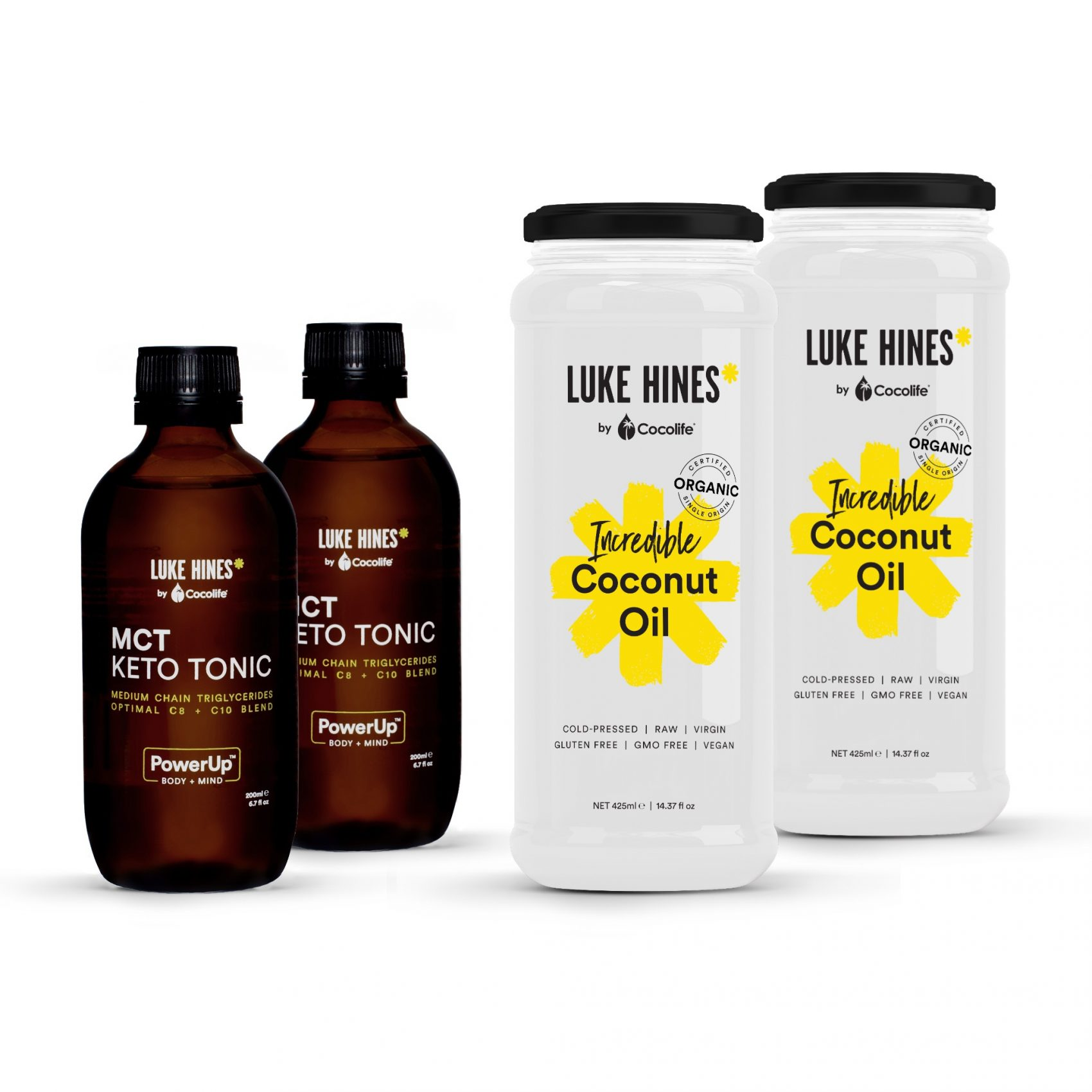 Luke Hines MIXED PACK - MCTs + Coconut Oil