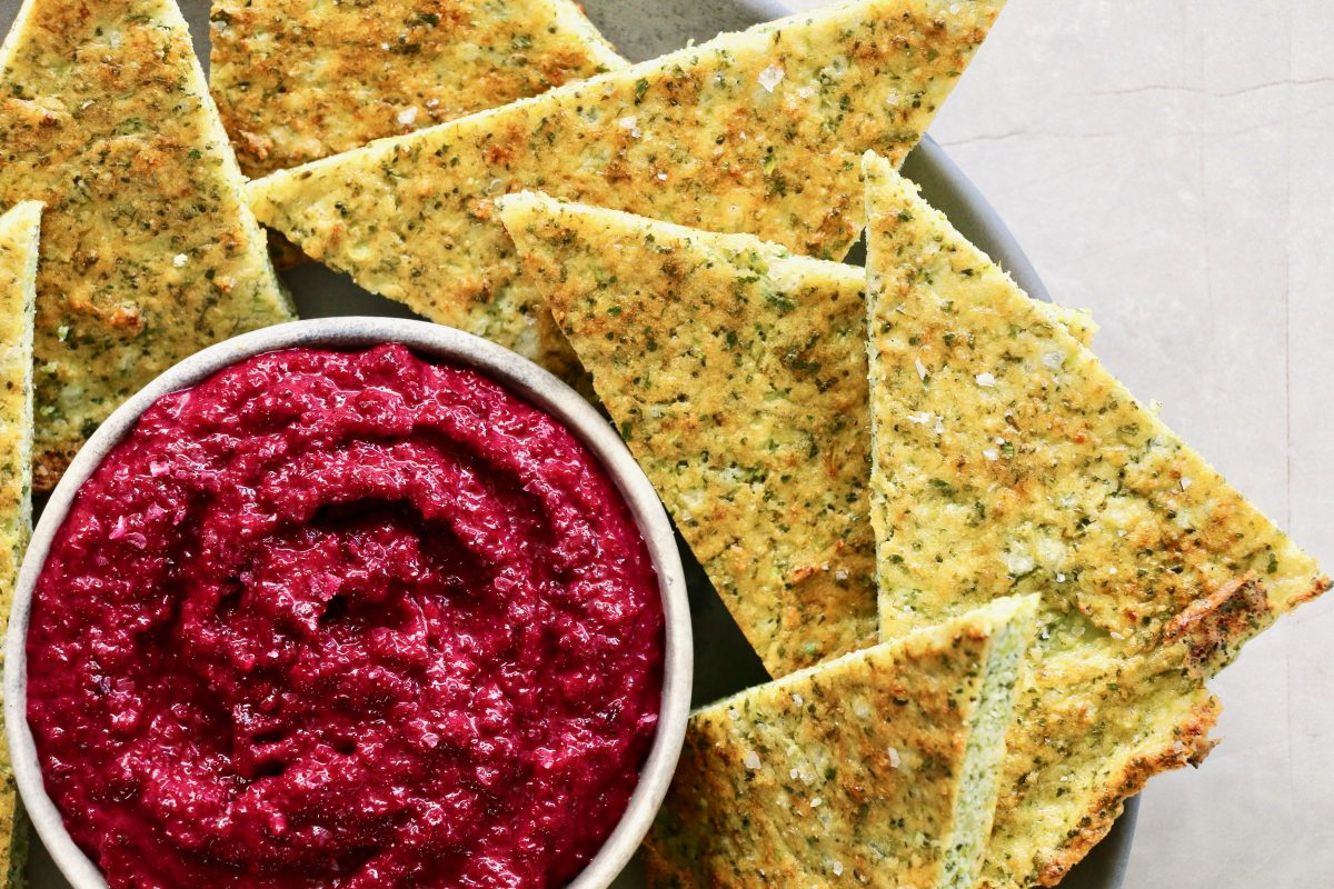 Broccoli Bread with Beetroot Dip by Luke Hines