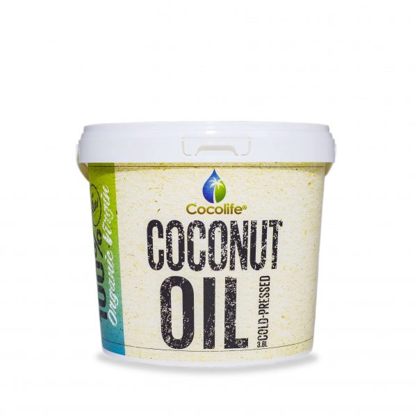 Organic Virgin Coconut Oil 3.8L Bulk Tub - Cocolife