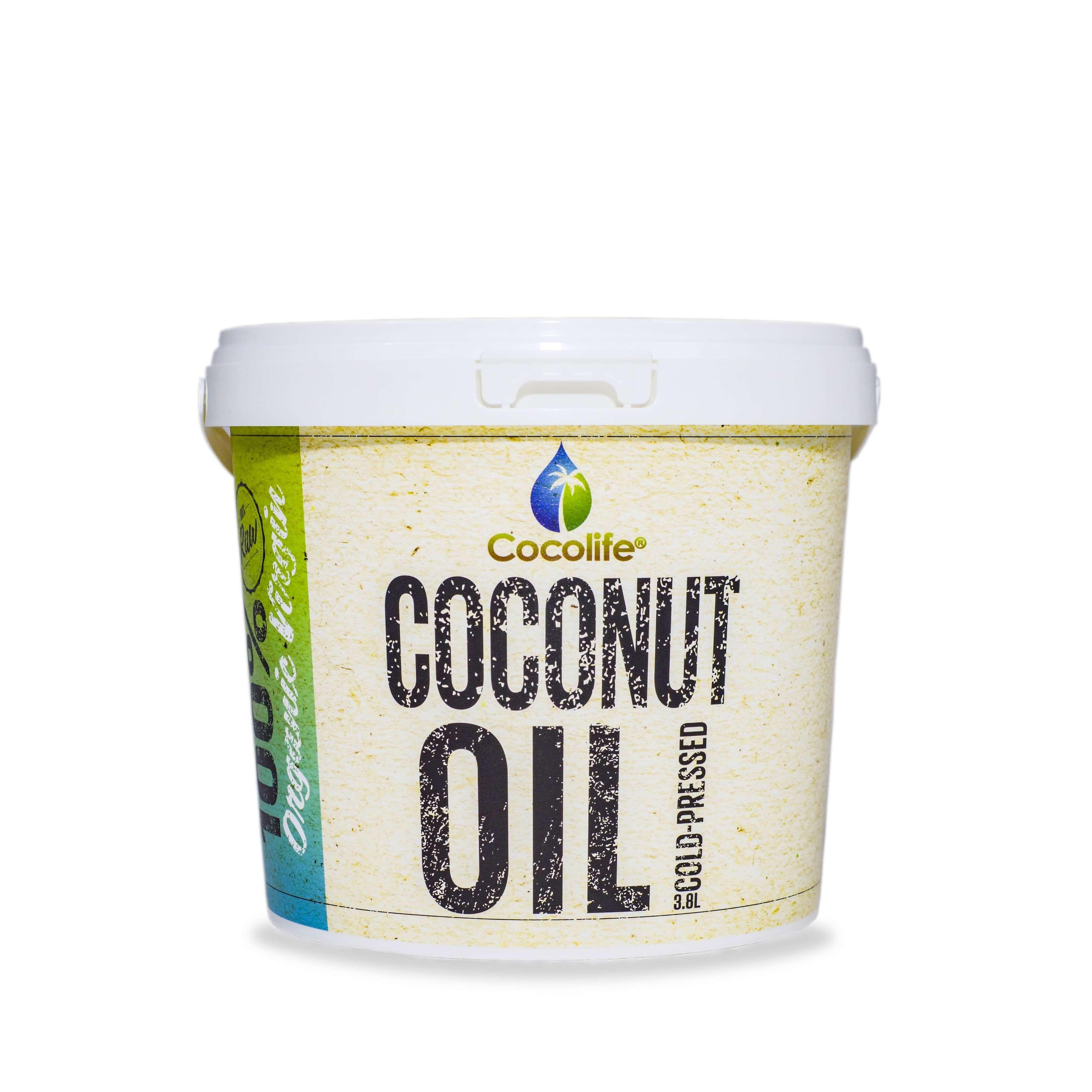 Organic Virgin Coconut Oil 3.8L Bulk Tub - Cocolife