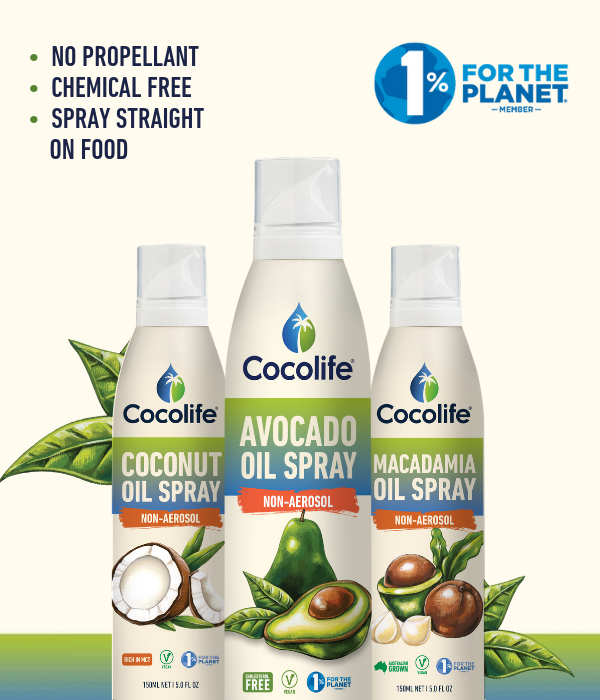 NON-aerosol Healthy Oil Sprays by Cocolife | 100% Pure, Cold-pressed (Mobile)