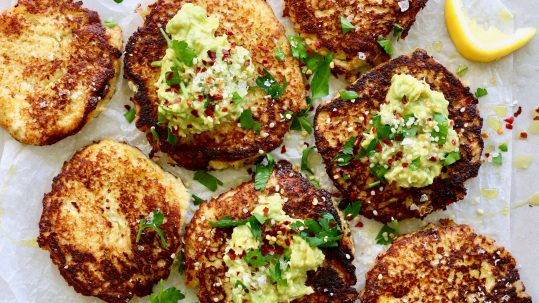 Low-carb Cauliflower Hash Cakes by Luke Hines | Cocolife Avocado Oil