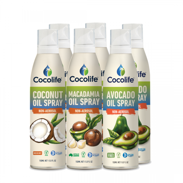 Cocolife non-aerosol Healthy Cooking Oil Sprays - Mixed Pack