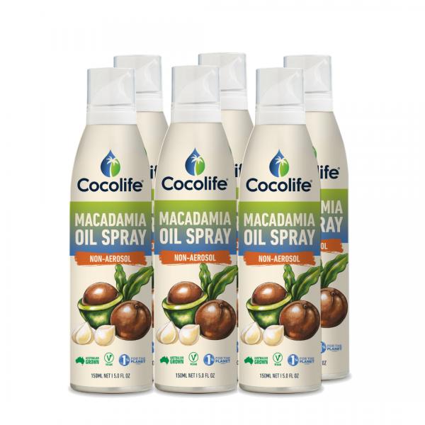 Cocolife non-aerosol Healthy Cooking Oil Sprays - Macadamia Oil, Pure & Cold-Pressed