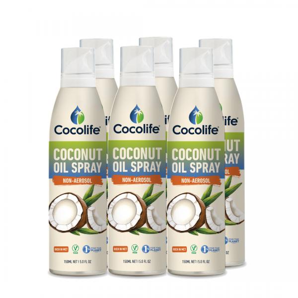 Cocolife non-aerosol Healthy Cooking Oil Sprays - Coconut Oil, Pure & Cold-Pressed
