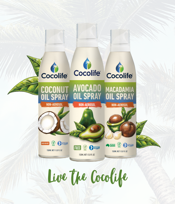 NON-aerosol Healthy Cooking Oil Sprays by Cocolife | 100% Pure, Chemical Free