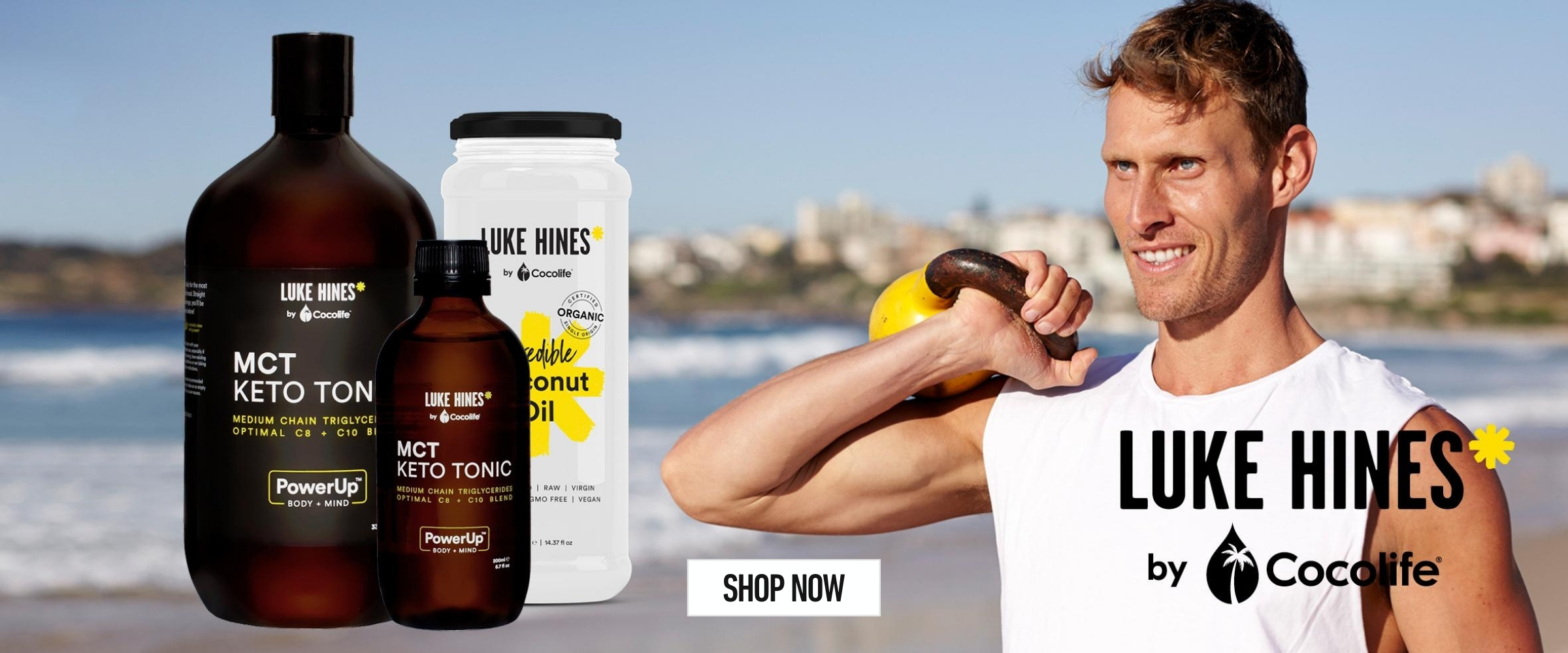 Luke Hines by Cocolife | MCT Keto Tonic, Organic Coconut Oil